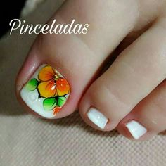 1 uñas Nails & Co, Wow Nails, Pretty Toe Nails, Cute Toe Nails, Pedicure Nails, Manicure, Pedicures, Toenail Art Designs, Pedicure Designs