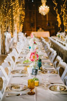 Barn Wedding Tables