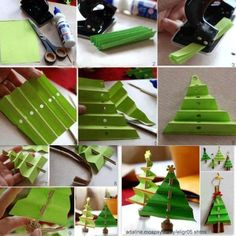 Diply.com - Decorative Crepe Paper Christmas Tree For Every Room