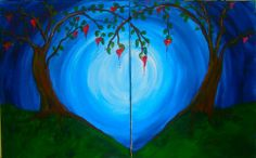 painting with a twist couples night - Google Search