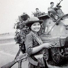 Viet Cong Fighter.  Viet Cong Female Soldiers