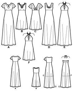Simplicity 7418 Robe en deux longueurs