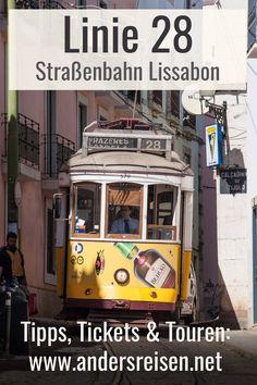 Die Straßenbahn Lissabon ist beeindruckend. Die Linie 28 schlängelt sich durch die schmalen Gassen des Stadtteils Alfama. Wenn Du eine Straßenbahn Tour in Lissabon unternehmen möchtest, dann findest Du alle wichtigen Tipps zu Touren, Tickets und Strecken. #visitportugal #visitlissabon Ariana Grande, Portugal, City Breaks Europe, Travel Report, Ariana Grande Outfits