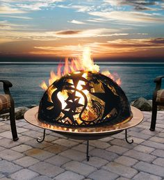 Whimsical Firepit - Enjoy stargazing from your patio with the Orion Fire Dome