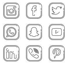 705 icon packs of social media Iphone App Layout, Iphone App Design, Social Network Icons, Social Media Icons, Instagram Black Theme, Snapchat Logo, Apple Logo Wallpaper Iphone, Cute App, Phone Themes