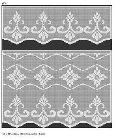 Filet Crochet, Crochet Doilies, Crochet Edgings, Vintage Borders, Double Knitting, Crochet Projects, Curtains, Quilts, Blanket