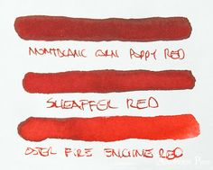 thINKthursday - Montblanc Corn Poppy Red!  A vivacious flower for the ages.  Depth and shade and hue engages.  Surely none as well assuages,  The need for red upon your pages.  Full review and poetic pictures aplenty at the Anderson Pens Blog.  blog.andersonpens.com  --  #thINKthursday #fpn #fpgeeks #fountainpenink #inkreview #inkophile #andersonpens #montblanc #montblanccornpoppy #funwithspoonerisms