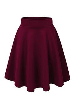 Women's Stretchy Flared Skater Skirt (X-Large, VS109-Burgundy) VIV Collection http://www.amazon.com/dp/B00TAEMWP8/ref=cm_sw_r_pi_dp_Jr75wb14V2Y0R