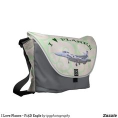 I Love Planes - F15D Eagle Messenger Bag #avgeek #aircraft #aviation #gifts  #travel