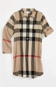 Burberry Check Print Shirtdress (Little Girls
