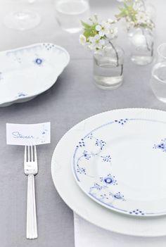 Royal Copenhagen_Blue Elements, Bordekking 17 mai, table setting, blue elements