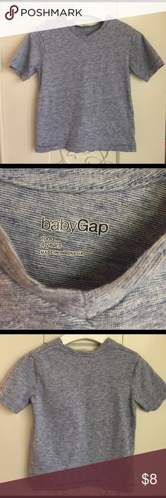 Baby GAP Boys blue v neck t shirt Sz 4 children's Blue, Size 4, in good condition!   Welcome to Fabulous Fancy's Closet! Let me pour you a touch of champagne while you browse 😉🍾🥂! I sell an array of goodies, some pre-loved, some brand new... all are 100% authentic everything listed comes from our loving home, which is pet-free & smoke-free.  If you have any questions please feel free to ask!!  Please see photos for details GAP Shirts & Tops Tees - Short Sleeve