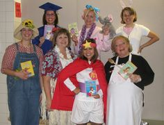 How cute would that be.... Teachers dress up as Junie B Jones (individual teacher picks certain Junie B book)