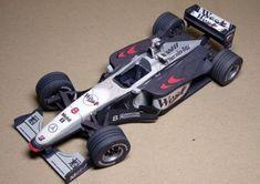 F1 Paper Model - 1998 McLaren MP4-13 Paper Car Free Template Download