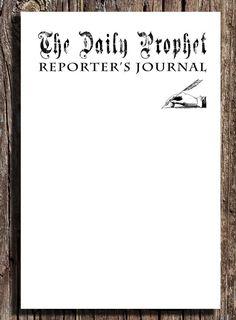 Printable Harry Potter Wedding The Daily Prophet Wedding Program ...