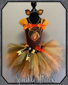 Lion king Tutu Birthday Party Fancy Dress Costume - 12-13