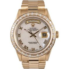 Buy your datejust yellow gold watch Rolex on Vestiaire Collective, the luxury consignment store online. Second-hand Datejust yellow gold watch Rolex White in Yellow gold available. Cartier Rolex, Rolex Watches For Men, Luxury Watches For Men, Gold Watches, Analog Watches, Rolex Batman, Rolex Models, Rolex Oyster Perpetual, Luxury Watches
