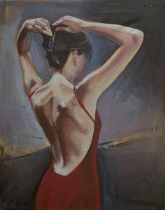 """Saatchi Online Artist: Jim Hanlon; Oil, Painting """"Lorraine"""""""