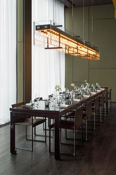 View the full picture gallery of Roomers Baden-Baden Western Restaurant, Interior Architecture, Interior Design, Restaurant Lighting, Luxury Chandelier, Unique Lighting, Dining Room Design, Model Homes, Retail Design