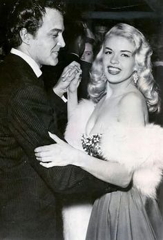 Lance Fuller & Jayne Mansfield having a dance, Hollywood Actor, Golden Age Of Hollywood, Classic Hollywood, Old Hollywood, Janes Mansfield, Bridgitte Bardot, Blonde Actresses, Playboy Playmates, Vintage Beauty