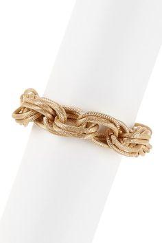 Textured Stack Link Toggle Bracelet by Sparkling Sage on @HauteLook