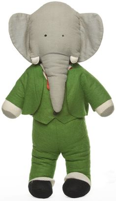 Plush Toy are an important accessery to pajamas and #Bookstobed #Character - Babar the Elephant