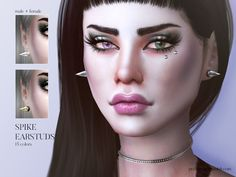 Sims 4 CC's - The Best: Spike Earstuds by Pralinesims