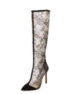 Monique Lhuillier Charlotte Lace Boot