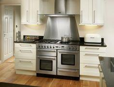 Rangemaster Toledo 110 range cooker with matching Rangemaster Toledo 110 hood and splashback Barn Kitchen, Open Plan Kitchen, Kitchen Pantry, Home Decor Kitchen, New Kitchen, Kitchen Design, Kitchen Ideas, Range Cooker, Cooker Hoods