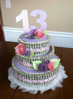 Birthday Money Cake Money cake Pinterest Money cake Birthday