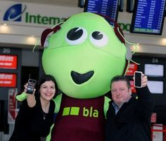 27 March 2013 - Martin Duddy launching 'The Big Local App Belfast' at Belfast International Airport today with Deborah Harris airport PR Manager. http://www.belfastairport.com/en/news/1/234/big-local-app-launches-at-bia.html