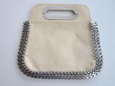 Paco Rabanne 1960's cream leather and chain by dejavuvintageretro, $895.00