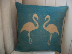 Caribbean Blue Flamingos - RusticCountryCrafts
