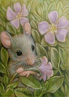 "Art by Lynn Bonnette: ""Tiny Spring Flowers"""