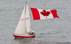 Sailboat and Canadian Flag. How pretty is this? What a beautiful photo. Canadian Culture, I Am Canadian, Canadian Girls, Canada Birthday, Yukon Territory, Northwest Territories, Canada Eh, Newfoundland And Labrador, 10 Picture