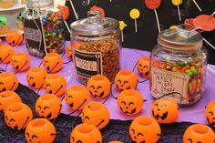 Nightmare Before Christmas kids birthday party Halloween - Sally's Spells candy buffet ideas