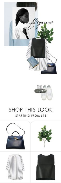 """postcard from far away"" by dear-inge ❤ liked on Polyvore featuring Hermès, MANGO, Fendi, Yves Saint Laurent and Leica"