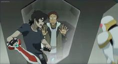 Keith trying to save Lance as he fights the training robot from Voltron Legendary Defender