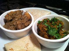 Atul Kochhar's Jeera Chicken and Nigel Slater's Aubergine Curry