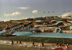 The Wild Waters Water Slide Park. Built on the site and replaced by the Logan Hyperdome (Source: Logan City Council). Logan City, Wild Waters, City Council, Water Slides, Old Photos, Childhood Memories, Australia, Park, Building