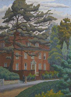 Charles Ginner  Red Brick House