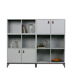 Lowercase modulekast VTwonen two doors - Beste Prijs! Lowercase A, Shelving, Modern Design, Doors, Home Decor, Products, Seeds, Shelves, Decoration Home