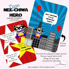 Superhero Theme I Will Invitations | Life's Little CelebrationsLife's Little Celebrations