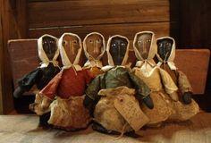 My Primitive Early Folk Prairie Dolls Instant Download Pattern pm51 $2.50