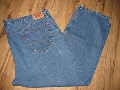Levis 505 Mens Levi Blue Jeans 52 X 30 Classic Straight Fit Big & Tall #Levis #StraightFit