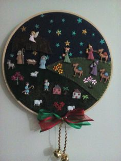 Pesebre Christmas Gifts To Make, Christmas Tree, Three Wise Men, Nativity Crafts, Christmas Decorations, Holiday Decor, Hand Embroidery Designs, Diy And Crafts, Cross Stitch