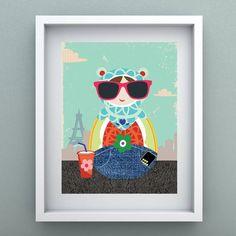 Lindos e criativos, os posteres do designer Rogério Pinto combinam com diversos ambientes. Faça lindas composições nos quartos, sala ou escritório.  Impresso com alta qualidade, em papel fotográfico 240 g/m². Embalado em plástico cristal e papelão com logo do artista serigrafado, além de selo holográfico.