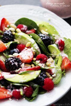 yummyinmytumbly:  Berry Avocado Salad with Creamy Raspberry Poppyseed Dressing