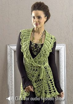 Free Pattern: Lacy #Crochet Vest. If I could crochet, I would crochet this. Love.