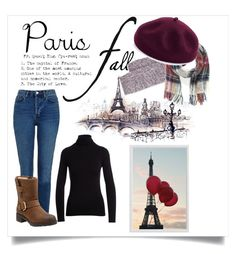 """""""Paris in fall"""" by katiemax34 on Polyvore featuring NM Luxury Essentials, Topshop, Clarks, Bergdorf Goodman, Vivienne Westwood, Kathy Jeanne and Pottery Barn"""
